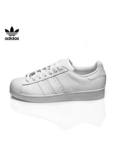adidas B27136-K Superstar Unisex Spor Ayakkabı Beyaz Beyaz